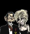 caricatura Tommsoni y Pamela
