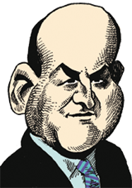 caricatura Paul Curry