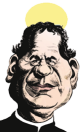 caricatura San Juan Bosco (Saint John Bosco)