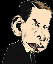 caricatura David Devant