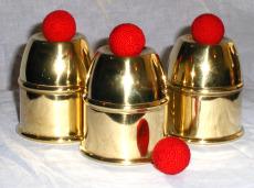 imagen de Cubiletes de bronce (set de 3 + bolas)